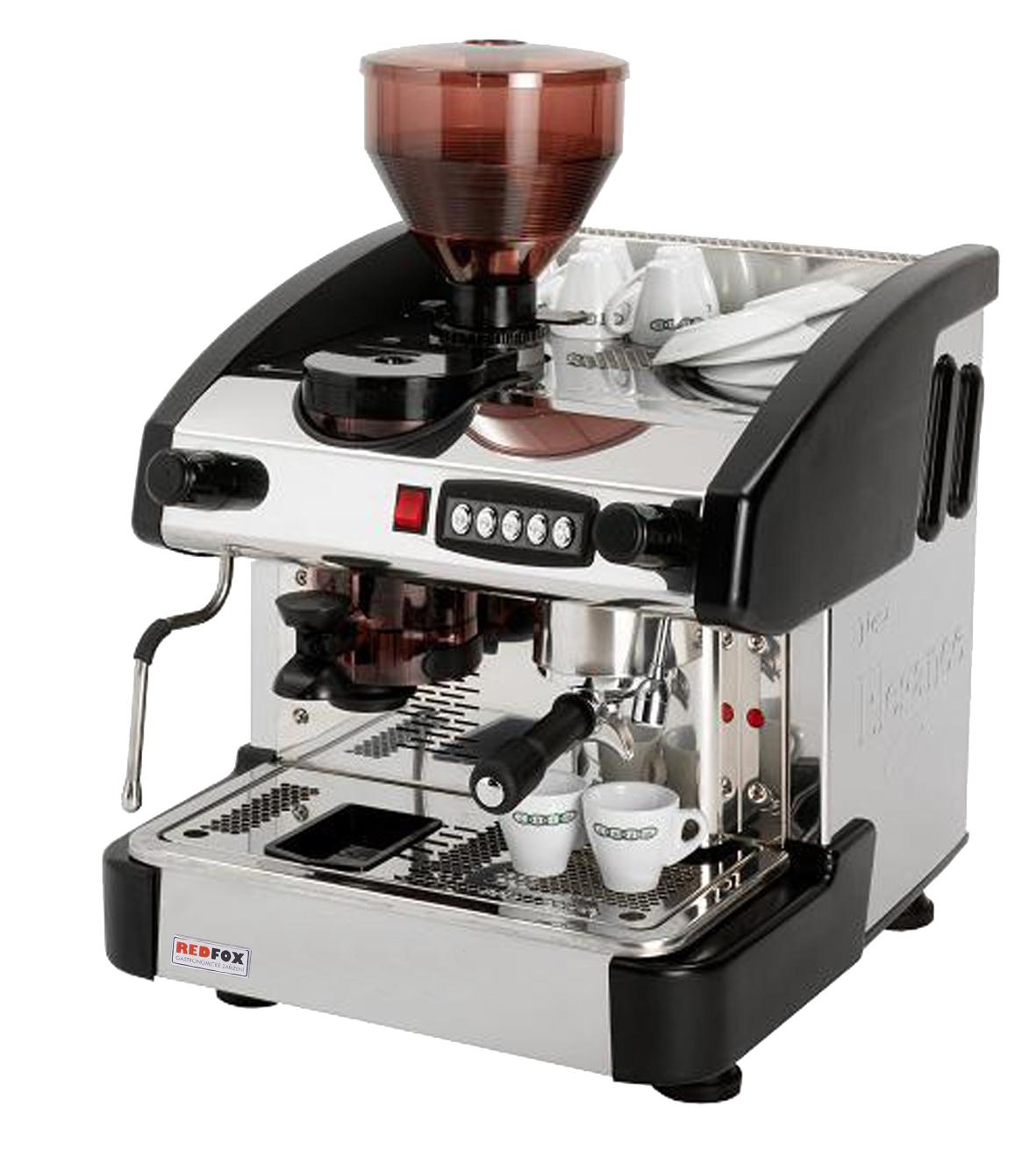 Kávovar jednopákový s mlýnkem - dřevo EMC 1P/W/M/C
